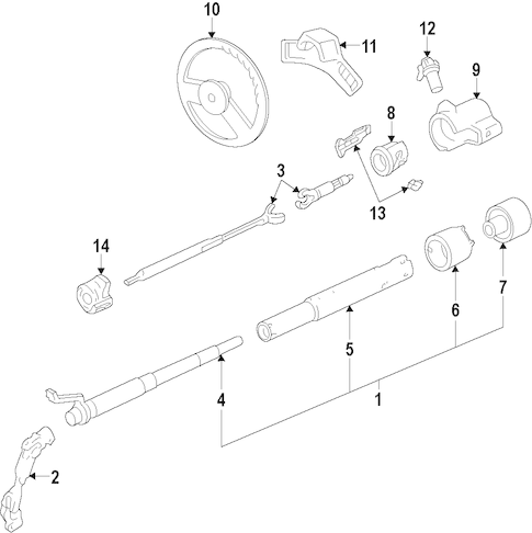 Steering Column Assembly Parts for 2002 GMC Savana 2500