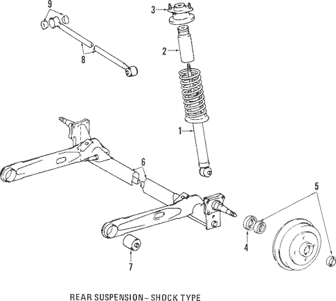 Genuine OEM Rear Axle Parts for 1995 Toyota Tercel DX