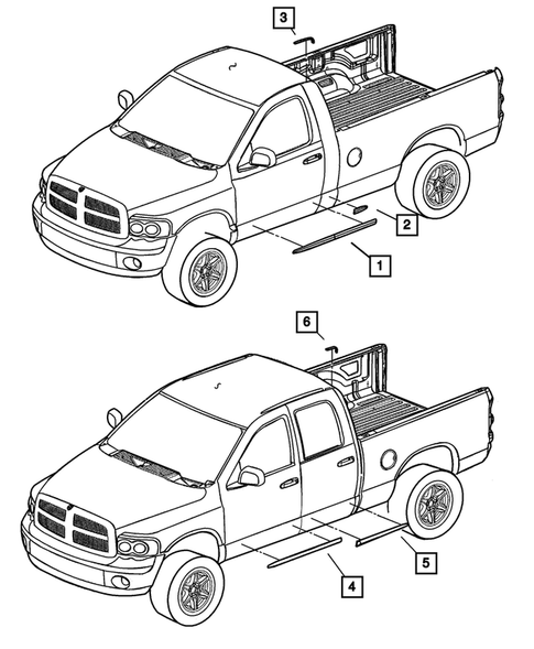 Moldings and Ornamentation for 2004 Dodge Ram 3500