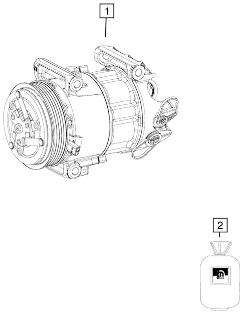 Air Conditioner Compressor and Mounting for 2018 Fiat 124