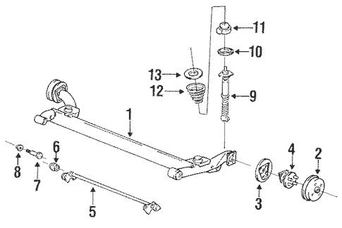 OEM 1994 Buick Skylark Rear Suspension Parts