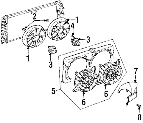 COOLING FAN Parts for 1997 Oldsmobile Cutlass Supreme