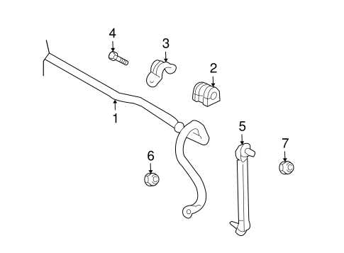 STABILIZER BAR & COMPONENTS for 2011 Chevrolet Aveo