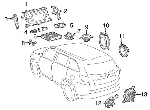 Genuine OEM SOUND SYSTEM Parts for 2014 Toyota Highlander