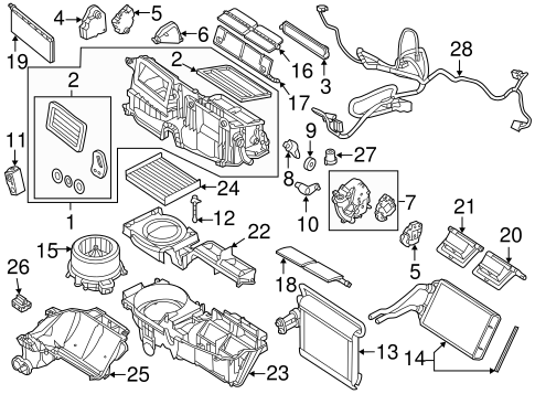 Evaporator Components for 2012 Lincoln MKZ