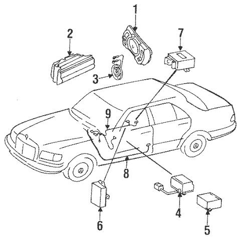 Air Bag Components for 1988 Mercedes-Benz 420SEL