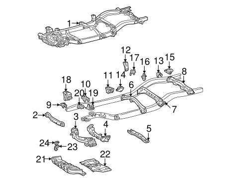 Genuine OEM Frame & Components Parts for 2002 Toyota