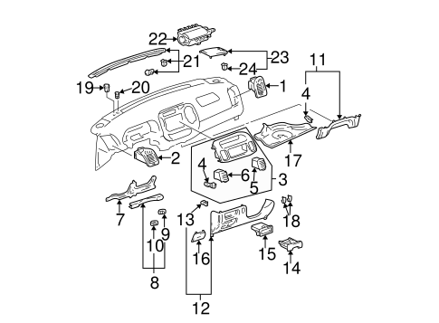 INSTRUMENT PANEL COMPONENTS for 2002 Toyota Camry