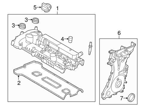 VALVE & TIMING COVERS for 2016 Ford Explorer