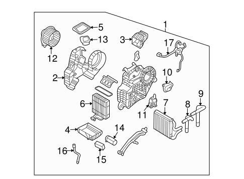 Evaporator & Heater Components for 2010 Kia Sedona