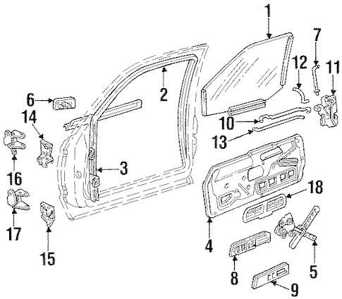 LOCK & HARDWARE for 1996 Chevrolet Suburban K1500