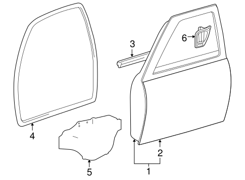 Genuine OEM Door & Components Parts for 2008 Toyota Tacoma