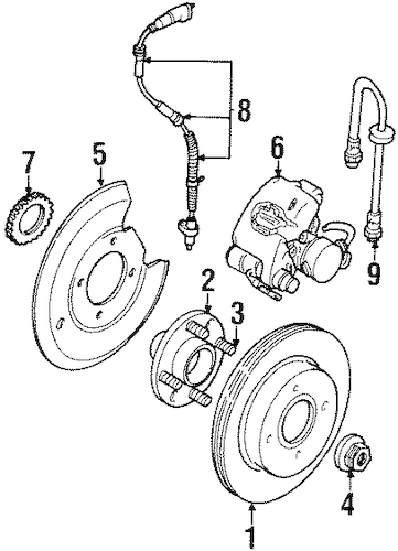 REAR BRAKES for 1997 Ford Contour