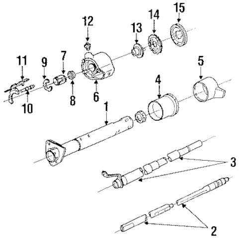 OEM 1993 Chevrolet S10 Steering Column Assembly Parts