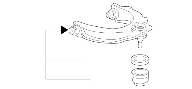 2004-2005 Acura TSX SEDAN Arm, L Front (Upper) 51460-SDA