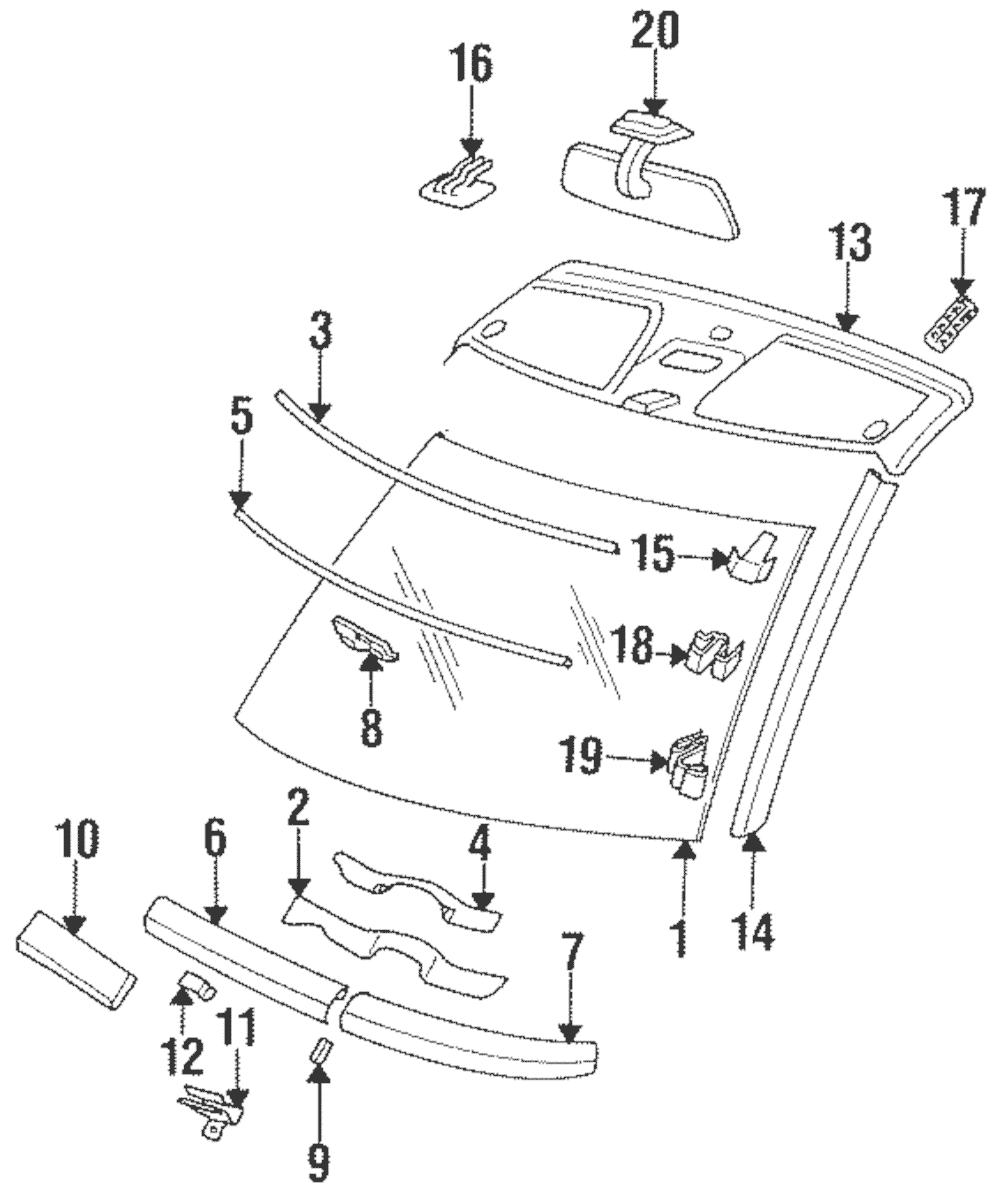Genuine Mercedes-Benz Interior Molding Clip 124-988-33-78