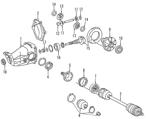 Axle Shafts & Joints for 1984 Mercedes-Benz 300 D