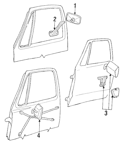 Dodge BODY OUTSIDE MIRRORS parts for a 1991 Dodge W150