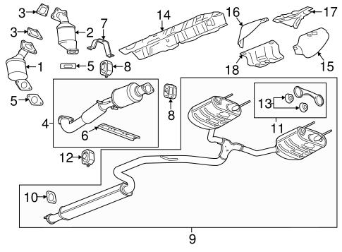 OEM 2012 Buick LaCrosse Exhaust Components Parts