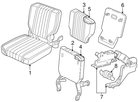 OEM REAR SEAT COMPONENTS for 1999 Chevrolet S10