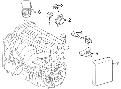 IGNITION SYSTEM for 1999 Volvo C70