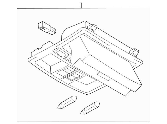 2007-2009 Mazda CX-9 Overhead Console TD75-69-970C-34
