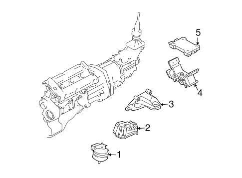 Engine & Trans Mounting OEM Parts for 2005 Kia Sorento