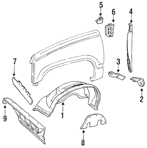 INNER COMPONENTS for 1999 Chevrolet Suburban K1500