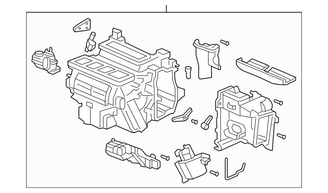 2003-2005 Honda ACCORD SEDAN Sub-Heater Unit 79106-SDA-Y01