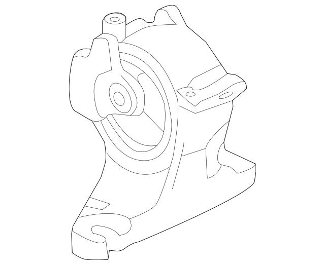 2010-2014 Honda INSIGHT Rubber Assembly, Transmission