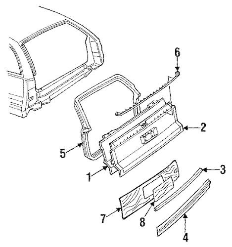 OEM GATE & HARDWARE for 1996 Buick Roadmaster