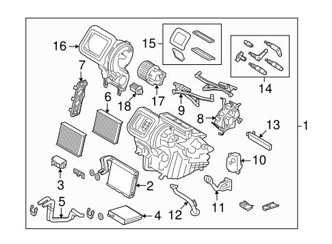 Condenser, Compressor & Lines for 2010 Land Rover LR2