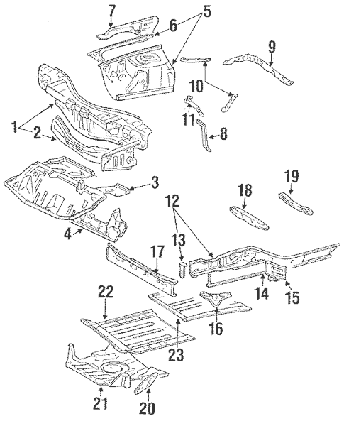 Genuine OEM Inner Structure & Rails Parts for 1991 Toyota
