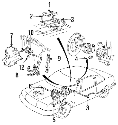 ABS COMPONENTS for 1990 Oldsmobile Cutlass Supreme (Base)