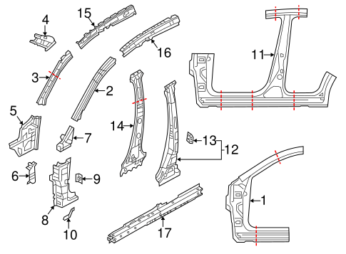 Genuine OEM Front Pillar Parts For 2016 Mazda CX-5 Grand