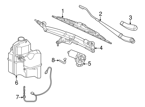 WIPER & WASHER COMPONENTS for 2006 Ford Freestyle