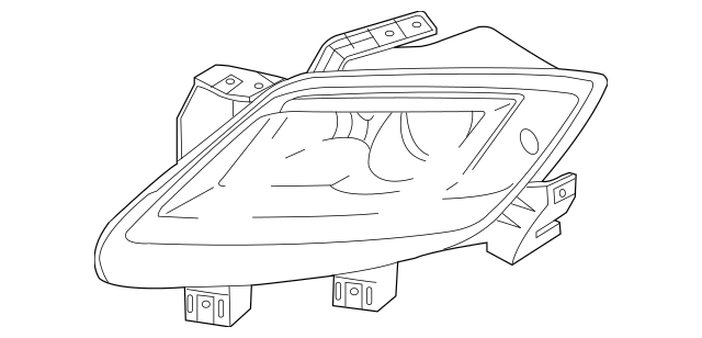 2010-2012 Mazda CX-9 Headlamp Assembly TE70-51-041C