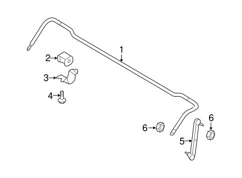 Stabilizer Bar & Components for 2004 Suzuki Forenza
