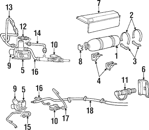Fuel System Components for 1997 Dodge Ram 2500 Parts