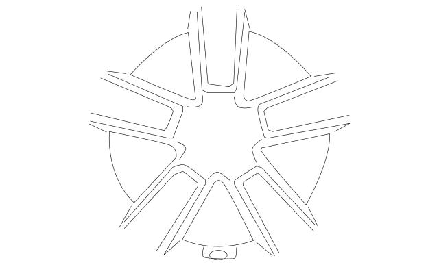 Genuine OEM Wheel, Alloy Part# 52910-2K450 Fits 2010-2011