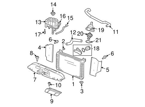 Radiator & Components for 2000 GMC Yukon XL 1500