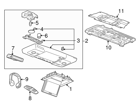 Entertainment System Components Parts for 2014 Chevrolet