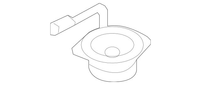 2009-2016 Lincoln MKS Pkg Tray Speaker 8A5Z-18808-W