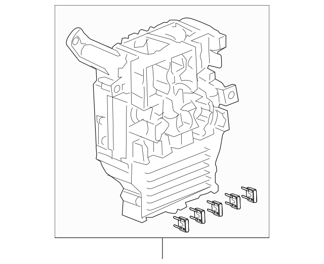2003-2005 Honda ACCORD SEDAN Box Assembly, Fuse 38200-SDB