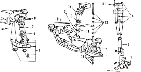 SUSPENSION COMPONENTS for 1988 Ford Thunderbird