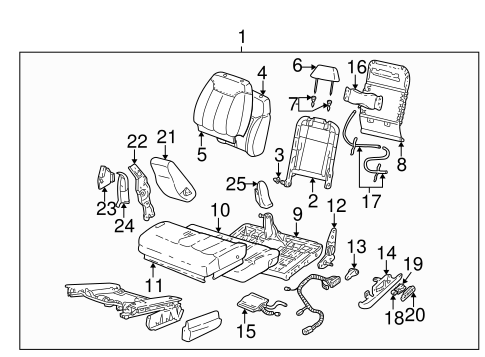 Front Seat Components for 1995 Chevrolet K1500 Pickup