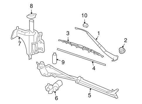 OEM 2006 Pontiac Montana Wiper & Washer Components Parts