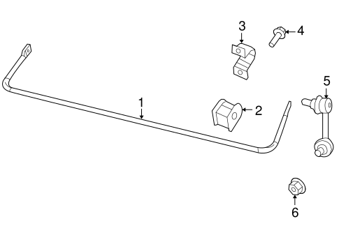 STABILIZER BAR & COMPONENTS for 2009 Jeep Patriot