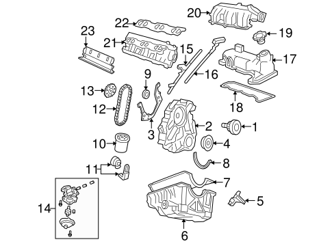 ENGINE PARTS for 1998 Ford Ranger