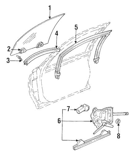 FRONT DOOR Parts for 1997 Chevrolet Monte Carlo